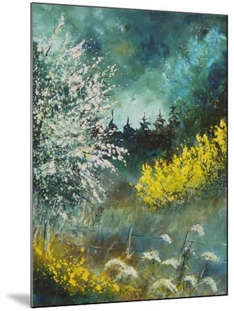 Hawthorne and brooms-Pol Ledent-Mounted Art Print