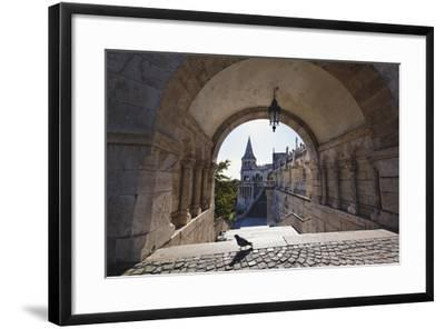 Arch, Fishermans Bastion, Budapest-George Oze-Framed Photographic Print
