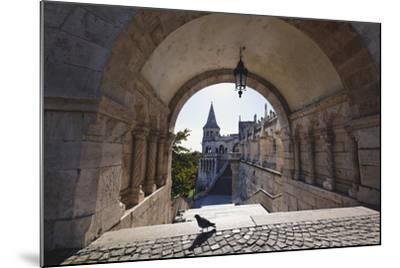 Arch, Fishermans Bastion, Budapest-George Oze-Mounted Photographic Print