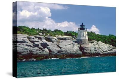 Castle Hill Lighthouse, Newport, RI-George Oze-Stretched Canvas Print