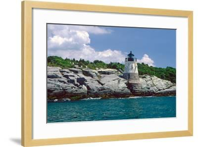 Castle Hill Lighthouse, Newport, RI-George Oze-Framed Photographic Print