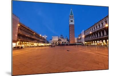 St Marks Square at Night, Venice, Italy-George Oze-Mounted Photographic Print