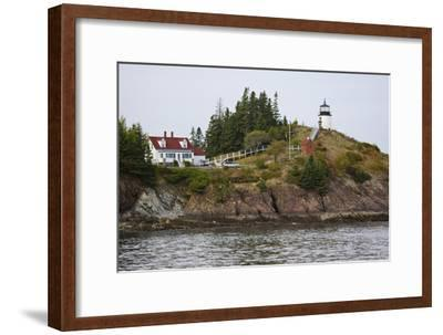 Owls Head Lighthouse, Rockland Harbor, Maine-George Oze-Framed Photographic Print