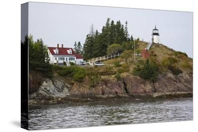 Owls Head Lighthouse, Rockland Harbor, Maine-George Oze-Stretched Canvas Print