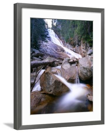Ripley Falls, New Hampshire-George Oze-Framed Photographic Print