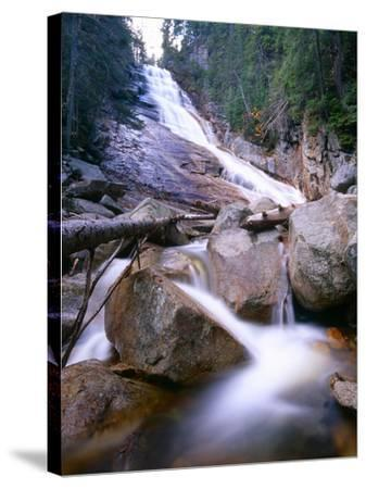 Ripley Falls, New Hampshire-George Oze-Stretched Canvas Print