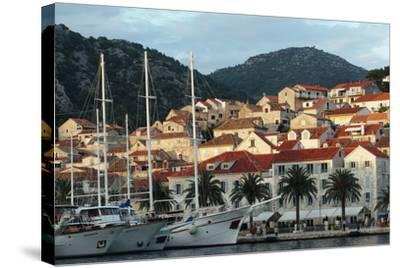 Hvar Harbor, Dalmatian Coast, Croatia-George Oze-Stretched Canvas Print