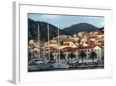 Hvar Harbor, Dalmatian Coast, Croatia-George Oze-Framed Photographic Print