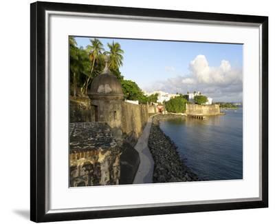 Old San Juan City Walls-George Oze-Framed Photographic Print