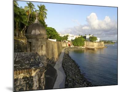 Old San Juan City Walls-George Oze-Mounted Photographic Print