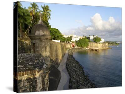Old San Juan City Walls-George Oze-Stretched Canvas Print