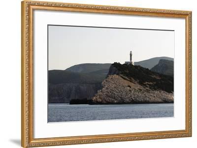 Cape Dhoukatou Lighthouse, Greece-George Oze-Framed Photographic Print