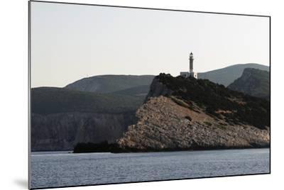 Cape Dhoukatou Lighthouse, Greece-George Oze-Mounted Photographic Print