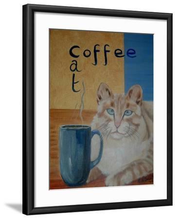 Coffee Cat-Ruth Palmer-Framed Art Print
