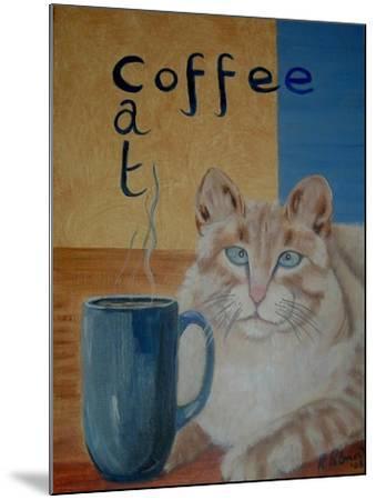 Coffee Cat-Ruth Palmer-Mounted Art Print
