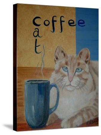 Coffee Cat-Ruth Palmer-Stretched Canvas Print