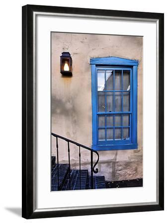 Blue Window, Santa Fe, New Mexico-George Oze-Framed Photographic Print