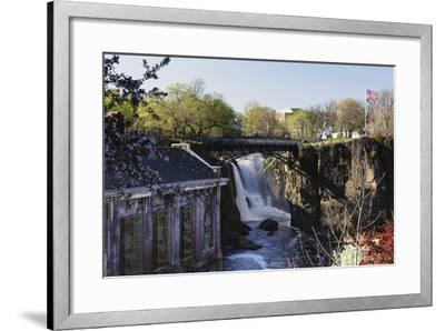 Great Falls of Passaic River, Paterson, NJ-George Oze-Framed Photographic Print