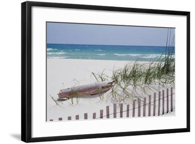 Fence on the beach, Alabama, Gulf of Mexico, USA--Framed Photographic Print