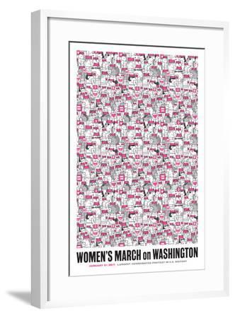 Women's March-Melinda Beck-Framed Art Print