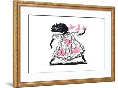 A Little Bird Told Me-Melinda Beck-Framed Art Print