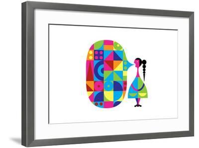 Girl Talk-Melinda Beck-Framed Art Print
