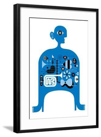 Blue Jazz-Melinda Beck-Framed Art Print
