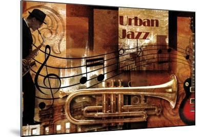 Urban Jazz-Paul Robert-Mounted Art Print