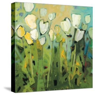 White Tulips I-Jennifer Harwood-Stretched Canvas Print