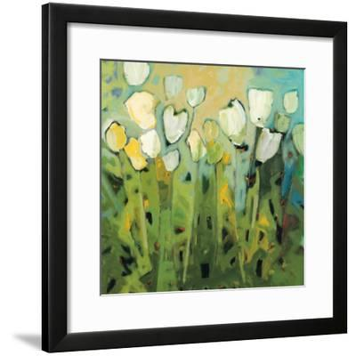 White Tulips I-Jennifer Harwood-Framed Art Print