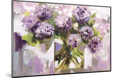 Blush Hydrangea-Amanda J^ Brooks-Mounted Art Print