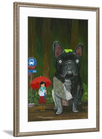 My Neighbor Chubu-Aaron Meshon-Framed Art Print