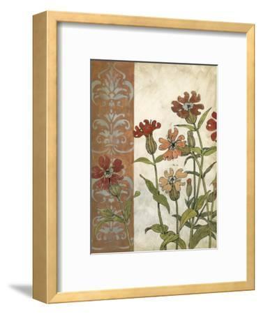 Red Antique Floral II-Megan Meagher-Framed Premium Giclee Print