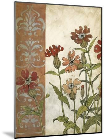 Red Antique Floral II-Megan Meagher-Mounted Premium Giclee Print