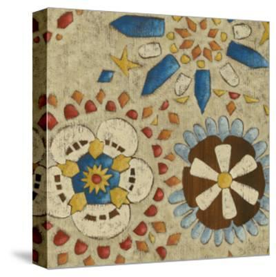 Rustic Mosaic IV-Chariklia Zarris-Stretched Canvas Print