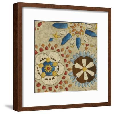 Rustic Mosaic IV-Chariklia Zarris-Framed Premium Giclee Print