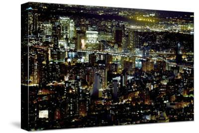 New York at Night II-James McLoughlin-Stretched Canvas Print