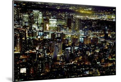 New York at Night II-James McLoughlin-Mounted Photographic Print