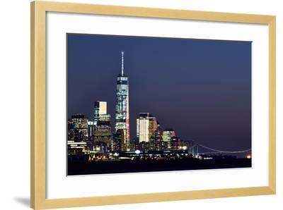 New York at Night X-James McLoughlin-Framed Photographic Print