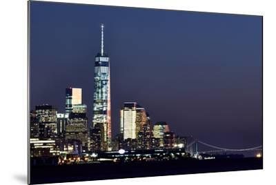 New York at Night X-James McLoughlin-Mounted Photographic Print