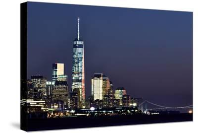 New York at Night X-James McLoughlin-Stretched Canvas Print