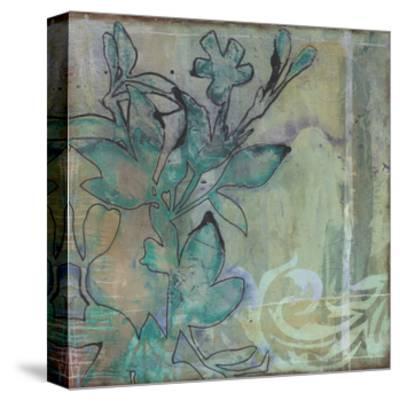 Teal Extraction I-Jennifer Goldberger-Stretched Canvas Print