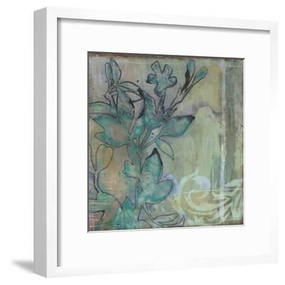 Teal Extraction I-Jennifer Goldberger-Framed Premium Giclee Print