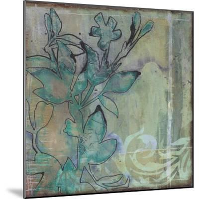 Teal Extraction I-Jennifer Goldberger-Mounted Premium Giclee Print