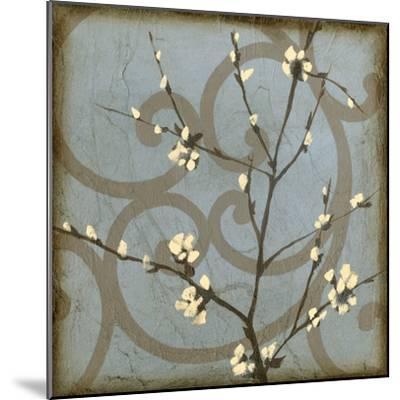 Blossom Branch II-Jennifer Goldberger-Mounted Premium Giclee Print