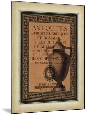 Antiquities Collection I-Vision Studio-Mounted Art Print