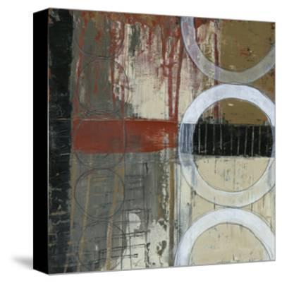 Circles & Stripes I-Jennifer Goldberger-Stretched Canvas Print