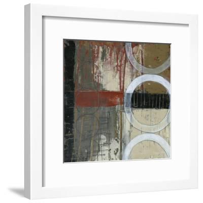 Circles & Stripes I-Jennifer Goldberger-Framed Premium Giclee Print
