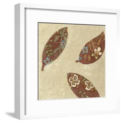 Linen Leaves IV-Chariklia Zarris-Framed Premium Giclee Print