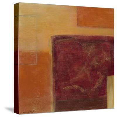 Orange Two-Step II-June Erica Vess-Stretched Canvas Print